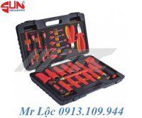 Bộ dụng cụ 24 món chuyên sửa chữa điện 1000V JTC I006